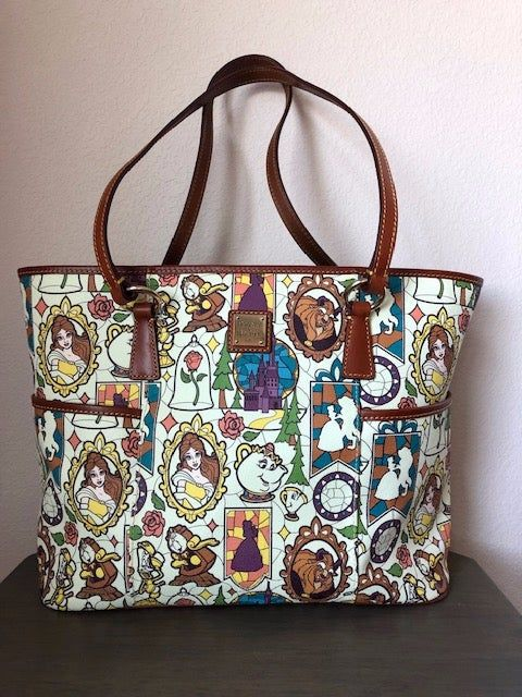 Disney Dooney Bourke S Beauty The Beast Tote In Excellent Pre Owned Condition Smoke Free Home Please Ask Any Questions Pr Disney Dooney Tote Purse Dooney