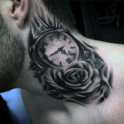 125 Best Neck Tattoos For Men Cool Ideas Designs 2020 Guide Best Neck Tattoos Neck Tattoo For Guys Rose Neck Tattoo