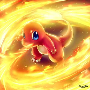"""Flare. He used to be team magma's """"pet"""". He lives in the future. His flames are only strong when he is in DANGER really bad danger. He lives in a village and not many pokemon are there. Open"""