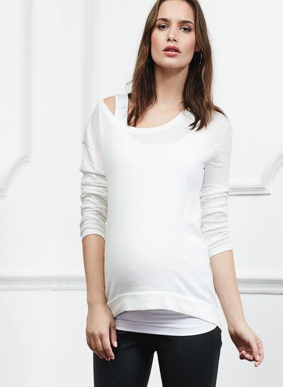 Ana Maternity Jumper in White   Isabella Oliver EU