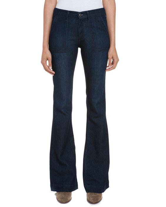AG Jeans The Goldie Entice Patch Pocket Flare Leg is on Rue. Shop it now.