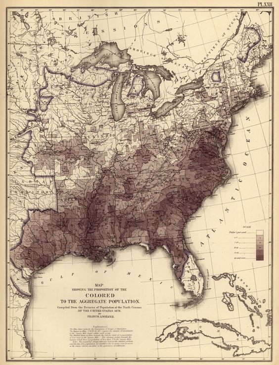 Beautiful Hires Census Maps Provide Fascinating Snapshots Of - Us population density map 1870s