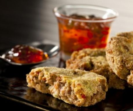 Made In Oklahoma Blackeyed Pea Cakes with Pepper Jelly