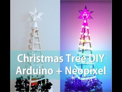 Neopixel Ws2812b Led Strip Arduino Christmas Tree Diy Youtube Diy Christmas Tree Christmas Tree Arduino