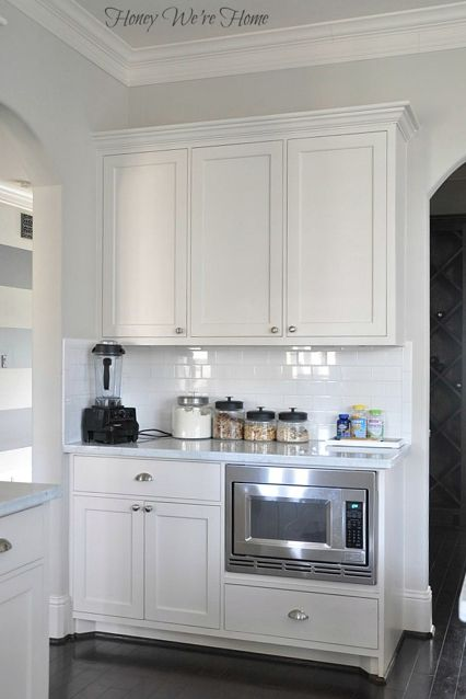Kitchen wall color is Accessible Beige from Sherwin Williams Creamy
