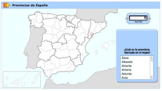 Juego - Provincias de España