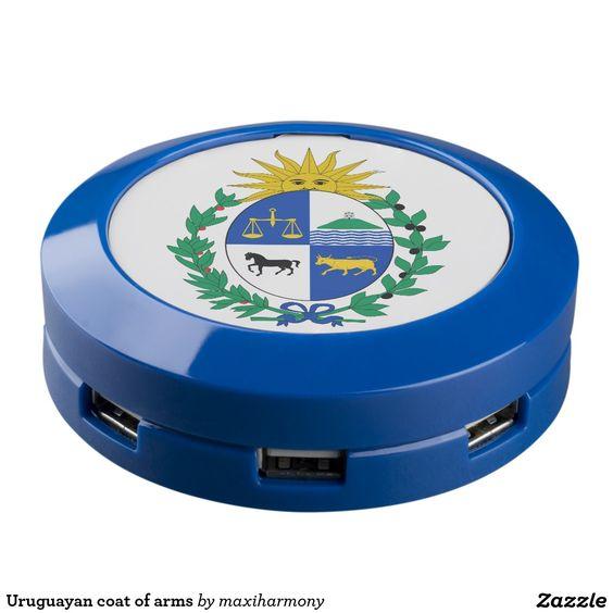 Uruguayan coat of arms USB charging station