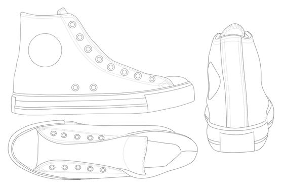CONVERSE All Star template by ~katus-nemcu on deviantART