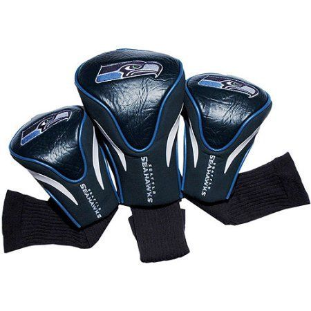 Team Golf NFL Seattle Seahawks 3 Pack Contour Head Covers, Blue