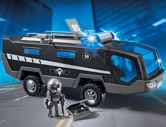 PLAYMOBIL 5564 - SEK-Einsatztruck mit Licht und Sound: Amazon.de: Spielzeug