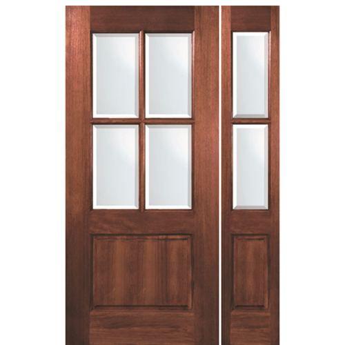 Tdl Mah 4 Lite 68 1 1 Wood Front Entry Doors Fiberglass Entry Doors Mahogany Exterior Doors