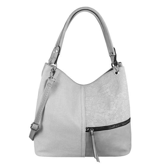 Obc Damen Tasche Din A4 Shopper Tote Bag Hobo Bag Handtasche W2019131 Grey In 2020 Schultertasche Handtasche Umhangetasche Beuteltasche Leder