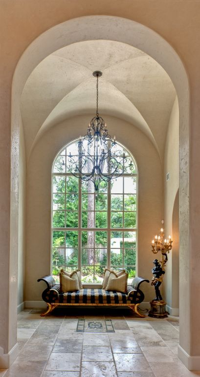 Beautiful vaulted ceilings and window on pinterest - Vaulted ceiling designs for homes ...