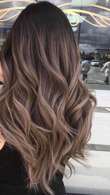 60 Hairstyles Featuring Dark Brown Hair With Highlights Crochetingneedles Com Haare Haarfarben Haar Styling