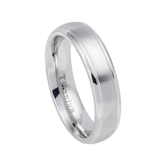 Titanium Round Cubic Zirconia Band Dome Shiny Gold Plated Men/'s Wedding Ring