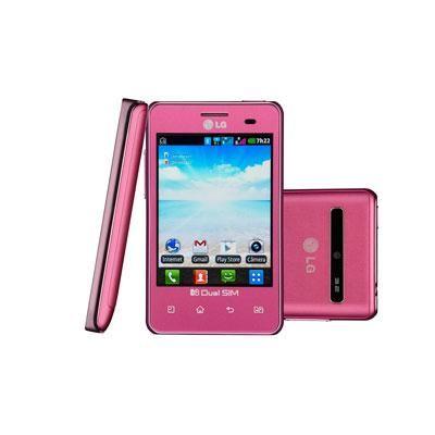Smartphone LG E405 L3 Dual Rosa, GSM, Dual Chip, Android 2.3, 3G, Wi-Fi, Tela 3.2″, Câmera de 3.2MP, Zoom 4x, GPS, Bluetooth, MP3 Player, Rádio FM - http://batecabeca.com.br/smartphone-lg-e405-l3-dual-rosa-gsm-dual-chip-android-2-3-3g-wi-fi-tela-3-2-cmera-de-3-2mp-zoom-4x-gps-bluetooth-mp3-player-rdio-fm-comprafacil.html