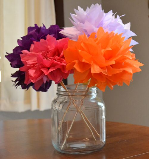 Tissue paper flowers while i was procrastinating things i tissue paper flowers mightylinksfo Images