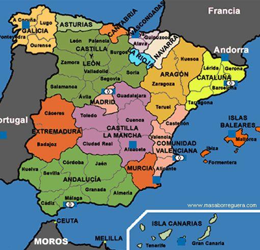 Resultado De Imagen Para Zaragoza Mapa Politico Espana Mapa De
