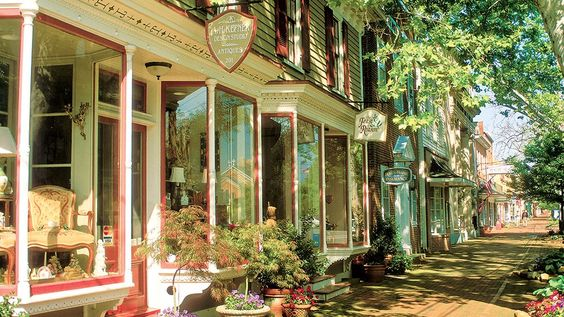 Walk down the picturesque cobblestone streets of Chestertown. Photograph by Pat Blackley/Alamy.