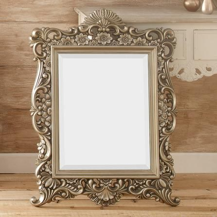 Silver ornate framed mirror dunelm mill dunelm mill for Silver framed mirror