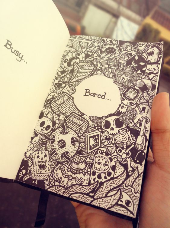 2011-2012 DOODLES Batch 3 : Moleskin Drawings by Lei Melendres, via Behance