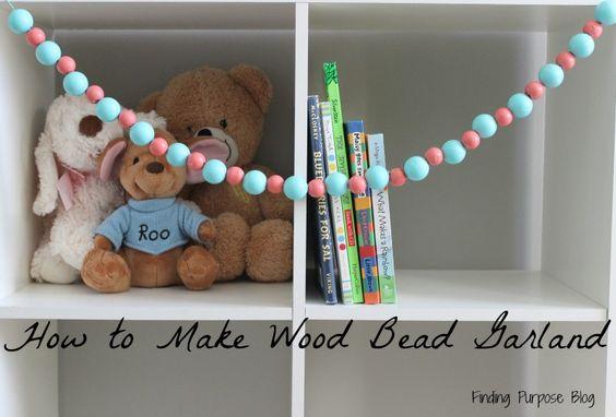 How to Make Wood Bead Garland