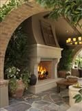 "42"" VJM42 Vantage Hearth Premium Oracle Outdoor Stainless Steel Luxury Series Masonry Wood Burning Fireplace"