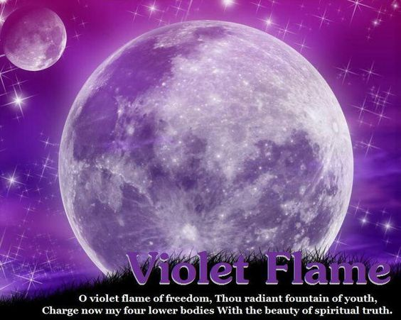 I am the Violet Flame of fire, I am the purity that God desires. ~ Say three, six or nine times to transmute any negativity energies.