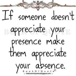 appreciation....