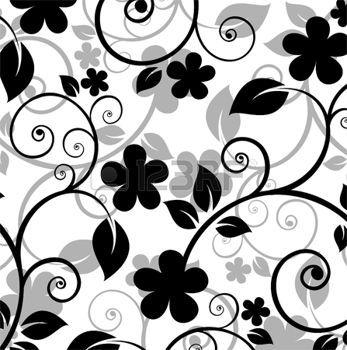 Fond Blanc, Blanc Noir, Noir Motif, Petites Déco, Dessin Noir, Idées Rangements, Transparence, Porcelaine, Fleur