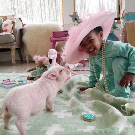 Linda compo, cores e amor <3 #babygirl Algumas razões para continuarmos acreditando num  mundo melhor