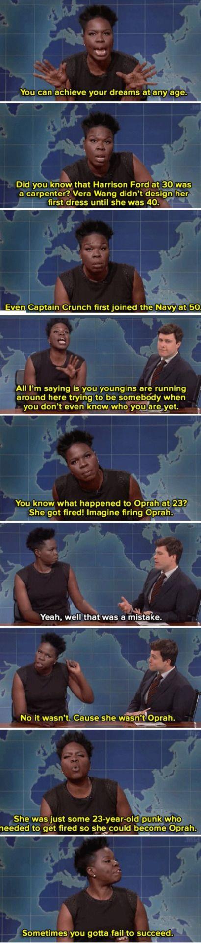 Leslie Jones spittin' truth on SNL last week.: