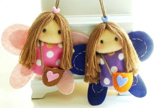 Cute: Felt Fairies, Fieltro Felt, Felt Dolls, Angel Crafts, Felt Crafts, Felt Ideas, Crafts Wood
