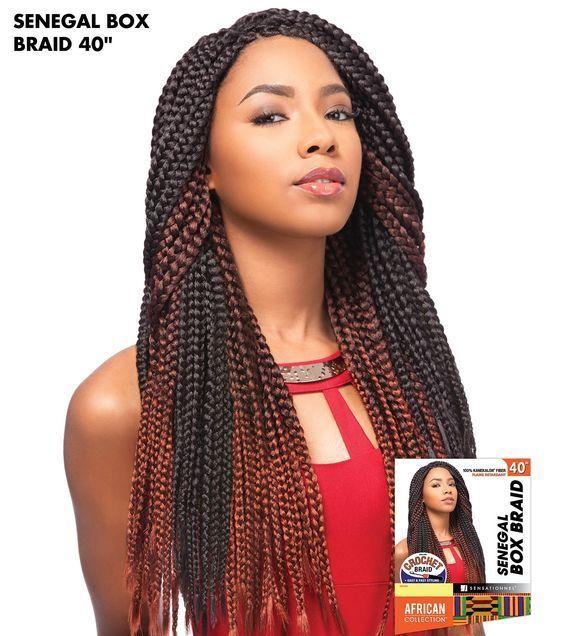 100 Kanekalon Fiber Flame Retardant Good For Crochet Braids Easy And Fast Styling Sensa African Braids Hairstyles Pictures Braided Hairstyles Easy Easy Braids