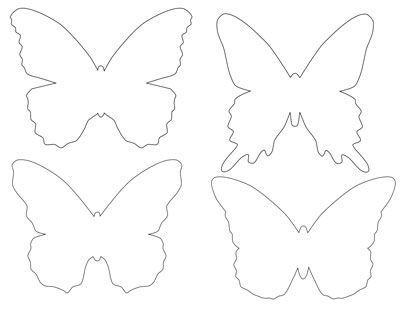 Printable Butterfly Template coloring pages Pinterest - butterfly template
