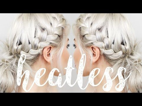 HOW TO: HEATLESS HAIRSTYLES | LYSSRYANN - YouTube