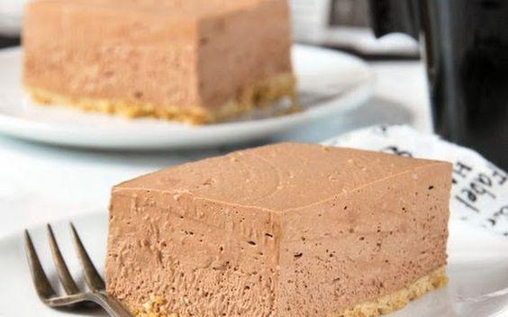 Tarta de queso chocolate y cafe
