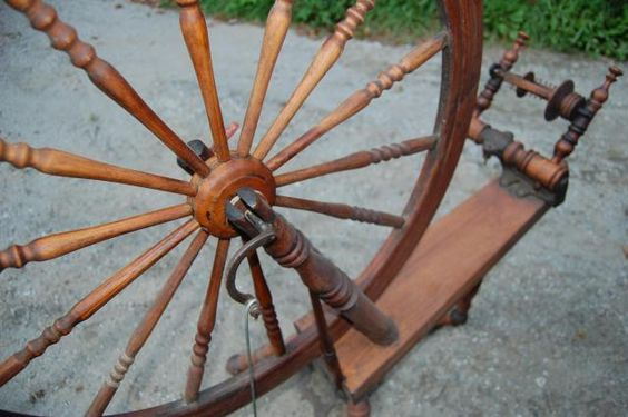 Antique tilt tension Quebec spinning wheel. This one looks similar to mine.