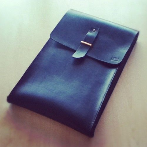 GUSH | Handmade macbook air sleeve     Hand stitched with good quality vegetable tanned leather