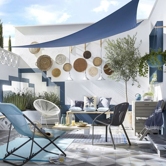Shade Sails To Protect From The Sun Rooftop Terrace Design