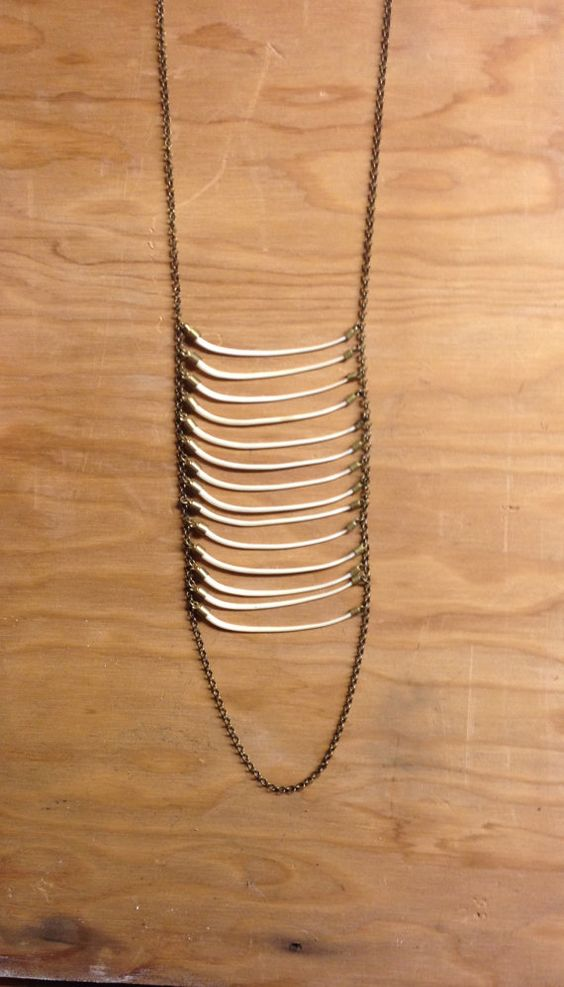 Snake Ribcage Necklace, Articulated Bone Necklace, Rib Cage, Animal Bone Jewelry