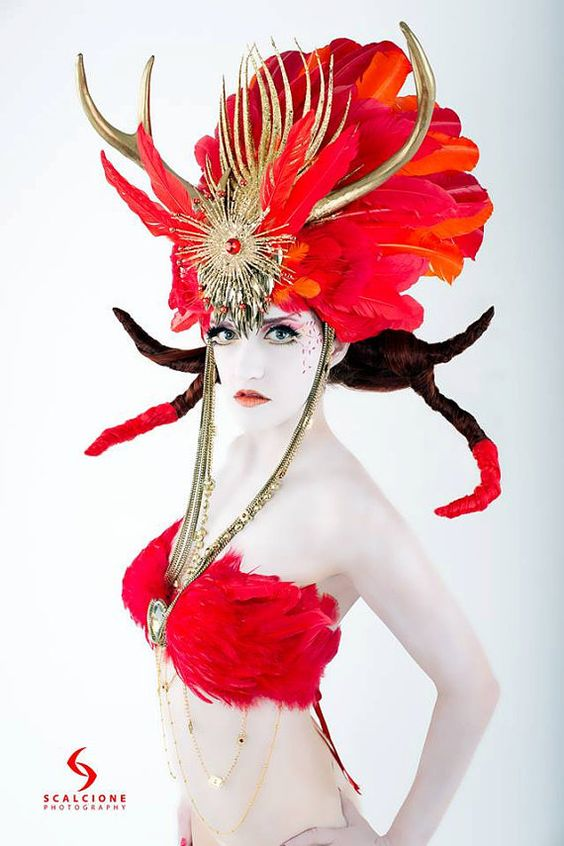infernal-headdress-red-orange-gold Etsy