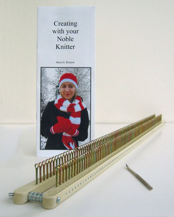 Check this out!!!  Easy to DIY this loom from pics- Shows nuts as spacers w/wingnuts to hold frame together, holes drilled in top and sides of wood pieces for different gauges, and removeable cotter pins as pegs!!!