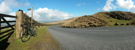 A brief rest stop while cycling over The Nick 'O Pendle yesterday