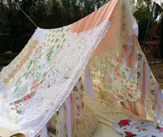 Boho tent teepee canopy Girls kids shabby chic by ...