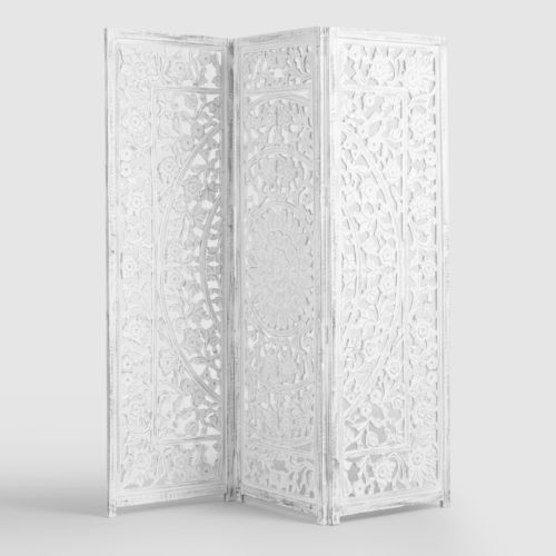 White Wood Privacy Screen Room Divider Headboard Hand Carved Distressed Room Divider Headboard Wooden Room Dividers Fabric Room Dividers