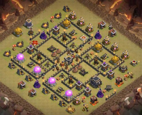 Base War Th 9 Anti 2 Star 8