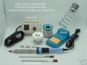 Jewelry Soldering Kit Includes Iron Rheostat Stand Flux Lead Free Solder | eBay
