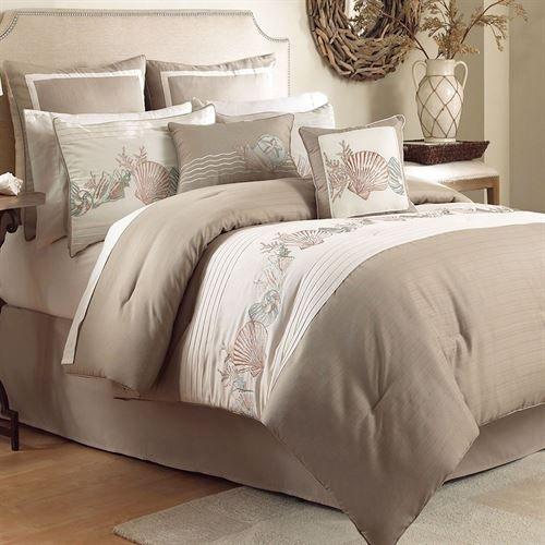 Seashore Comforter Set Beige Luxe Beddengoed Beddengoed Luxe