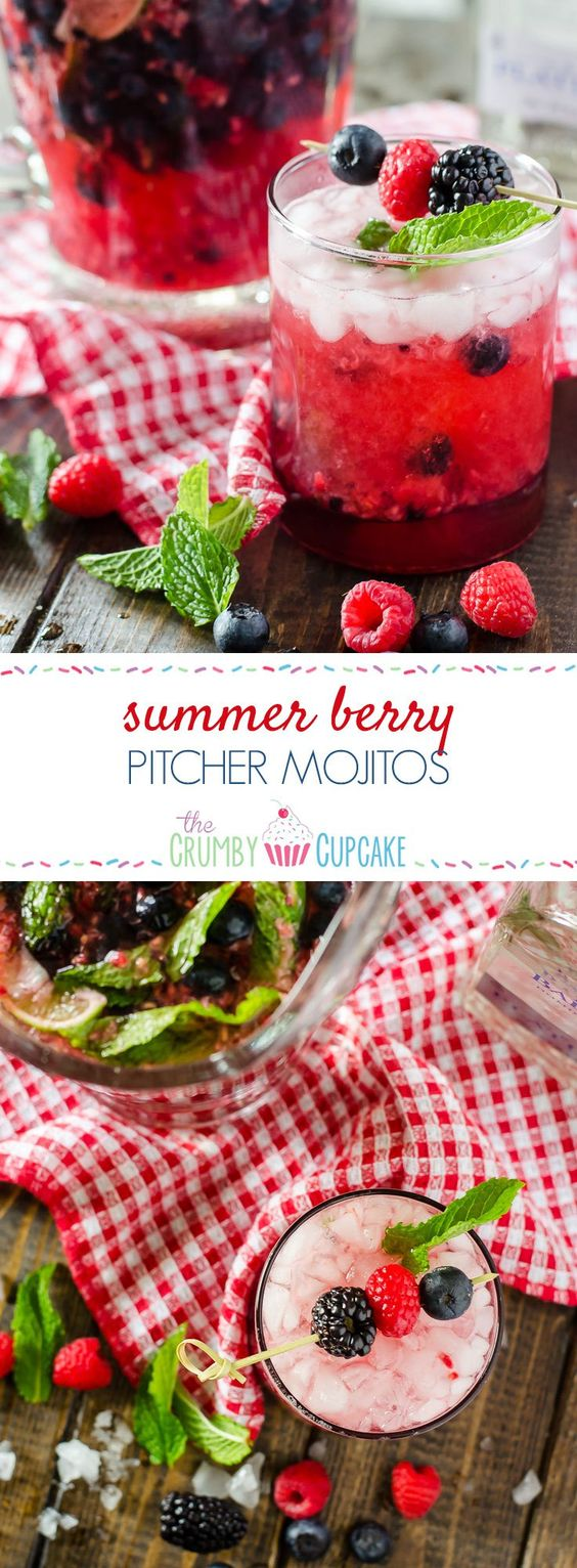 Summer Berry Pitcher Mojitos